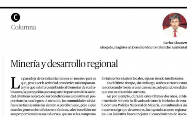 Minería y desarrollo regional